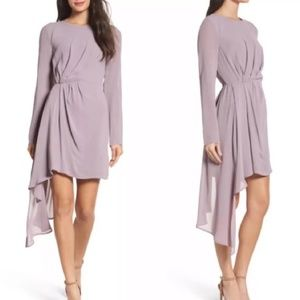 Bardot Mauve Asymmetrical Stilla dress Excellent